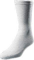 MEDICOOL INC European Comfort Diabetic Sock X-Large, White - Crescent Medical Supply