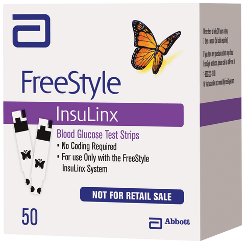 ABBOTT LABORATORIES FreeStyle Insulinx Blood Glucose Test Strip (50 count) - Crescent Medical Supply