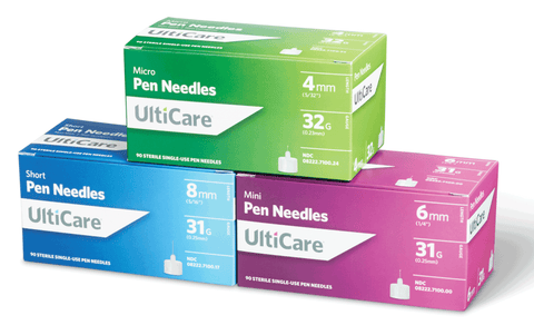 ULTIMED UltiCare Pen Needle 32G x 4 mm (90 count) - Crescent Medical Supply