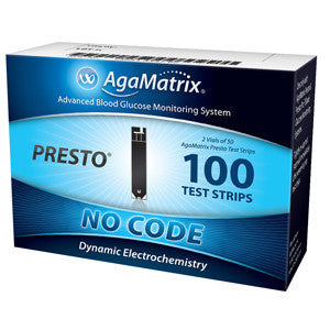 AGAMATRIX, INC AgaMatrix Presto Test Strip (100 count) - Crescent Medical Supply