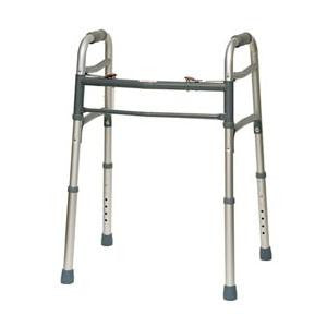 Professional Medical Deluxe 2 Button Adult Folding Walker
