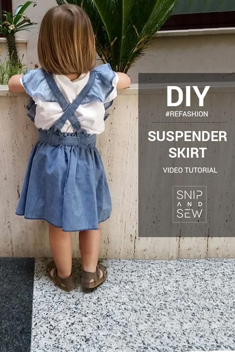 Suspender Skirt - straps with ruffles