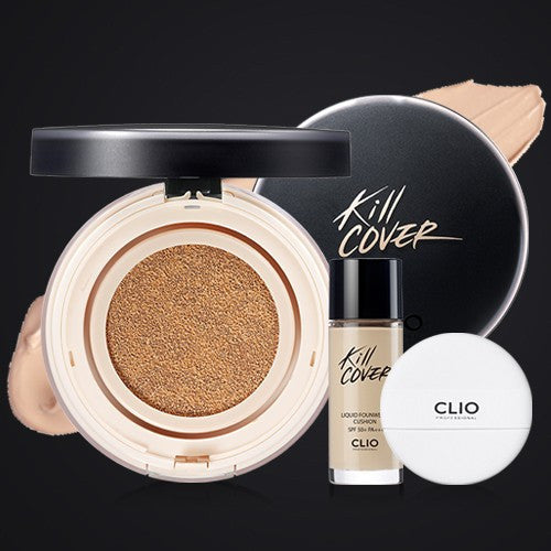 CLIO Kill Cover Liquid Founwear Cushion 03 Limitted Edition with free primer