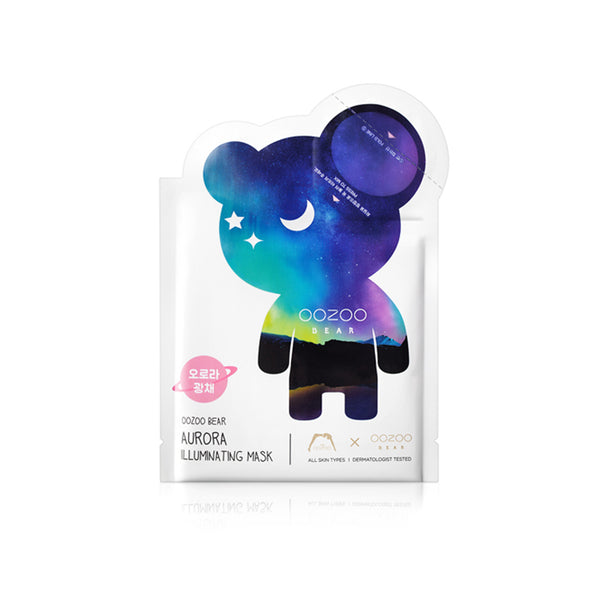 OOZOO Bear Aurora Illuminating mask 1pcs
