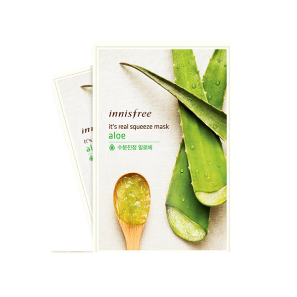 Innisfree It's Real Squeeze Mask-Aloe 2pcs