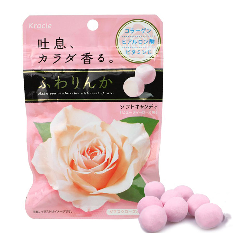Japan Kracie Fuwarinka Beauty Rose Candy