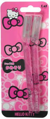 Kai Hello Kitty Face Hair Shaving Razor 2pcs
