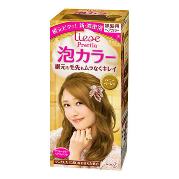 Kao Prettia Bubble Hair Color Honey Beige (Box slightly damaged)