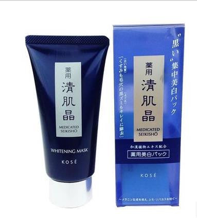 Kose Medicated SEIKISHO Black Clay Whitening Mask 80g