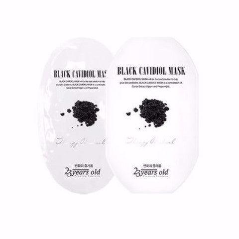 23 Years Old Black Cavidiol Facial Mask Pack 1pc