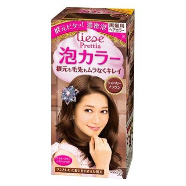 Kao Prettia Bubble Hair Color Raspberry Brown (Box slightly damaged)