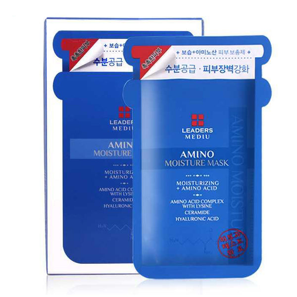 Leaders Mediu Amino Moisture Face Mask 10pcs