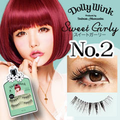 KOJI Dolly Wink False Eyelashes No.2 Sweet Girly 2 pairs