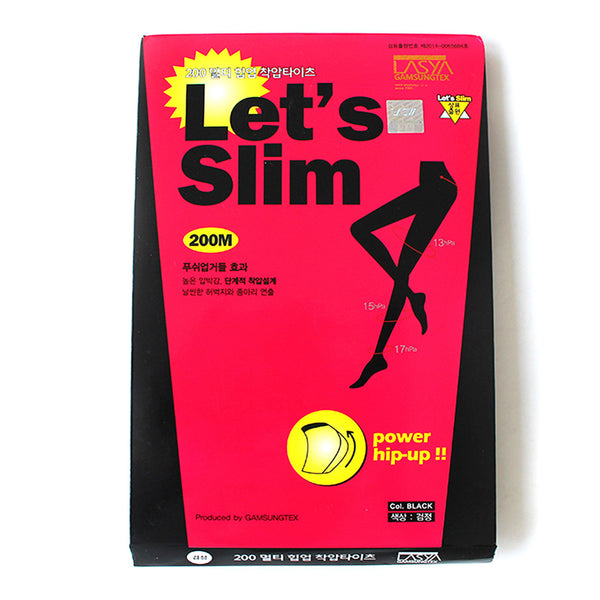 Let's Slim Hip Uptights 200D 3 Sets