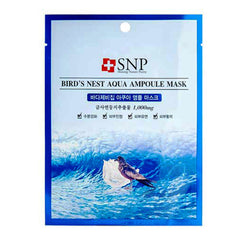 SNP Bird's Nest Aqua Ampoule Mask High Moisture Aquaringer New Mask 10pcs
