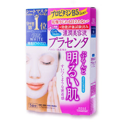Kose Cosmeport Japan Clear Turn White Placenta Mask 5pcs