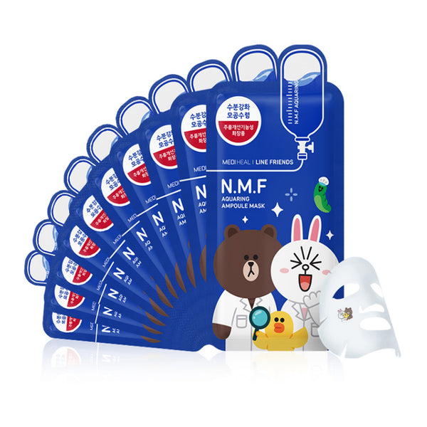 Mediheal Line Friends Ampoule Mask-NMF Aquaring 10 pcs