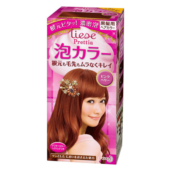 Kao Prettia Bubble Hair Color Pink Berry