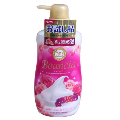 Cow Brand Bouncia Body Soap Body Shampoo 550 ml - Pink