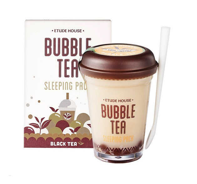 Etude House Bubble Tea Sleeping Pack - Black Tea