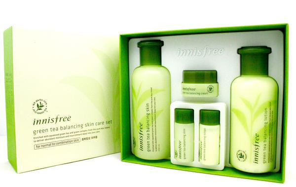 Innisfree Green Tea Balancing Skin Care Set (box slightly damaged)