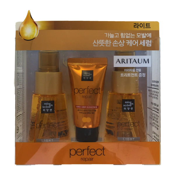 Amore Pacific Mise en scene Hair Perfect Repair Set - Oil 70mlx2+ Treatment30ml - Light