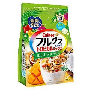 Calbee Fruit granola Tropical mix coconut taste 700g