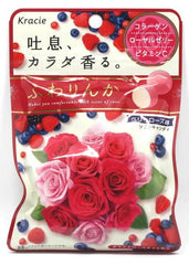 Japan Kracie Fuwarinka Beauty Rose Candy - Blueberry