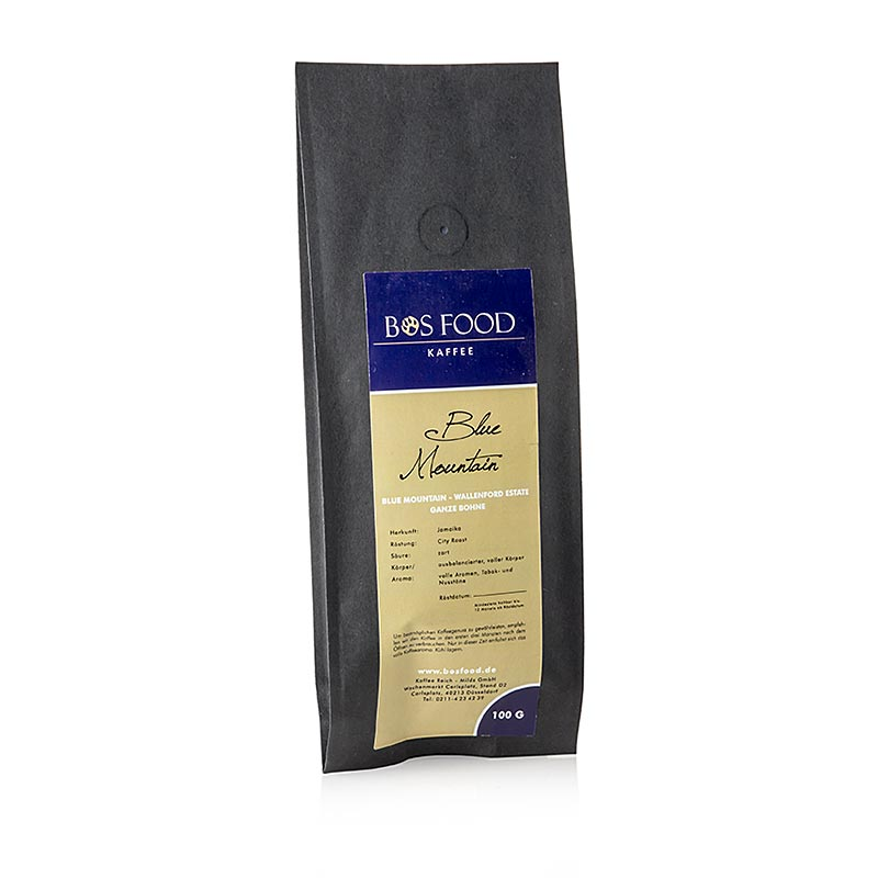 """BOS FOOD Blue Mountain"" - Kaffee, Jamaika, ganze Bohnen 100 g"
