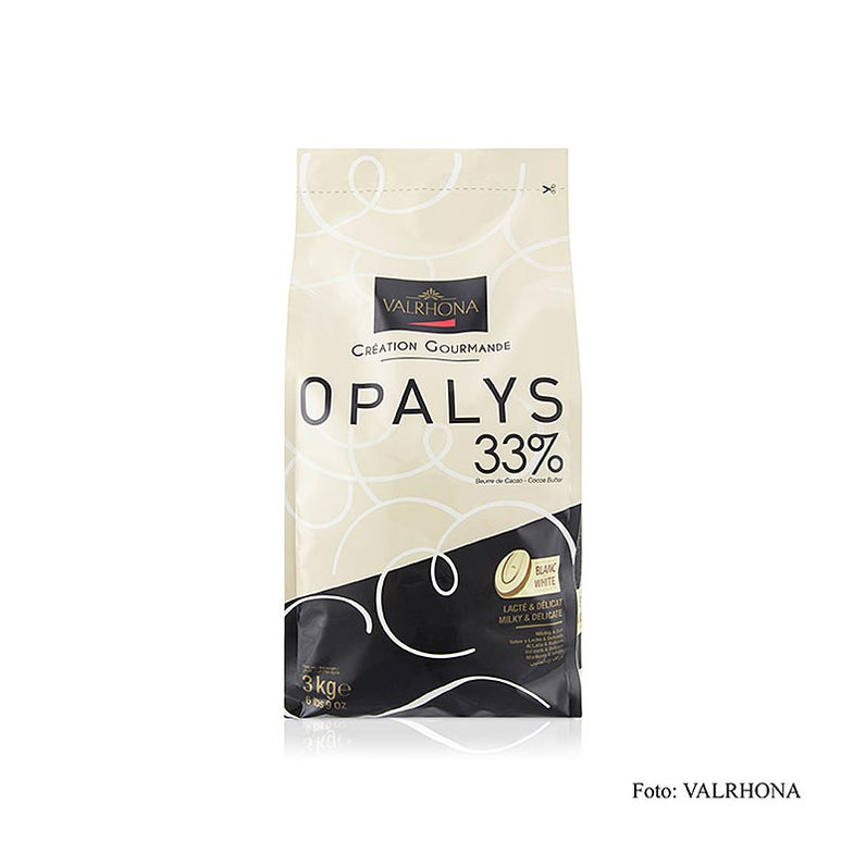 Opalys, weiße Couverture, Callets, 33% Kakaobutter 3 kg