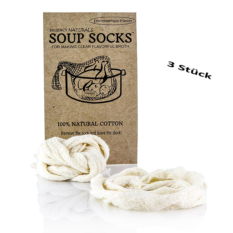 The Original Soup Socks, 100% Naturbaumwolle 3 St