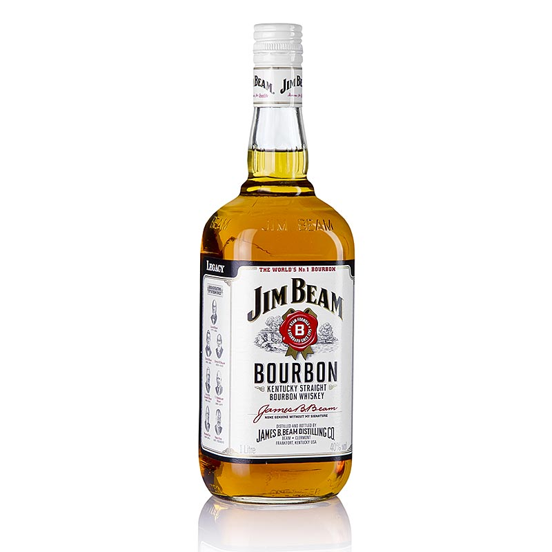 Bourbon Whisky Jim Beam, 40% vol., USA 1 l