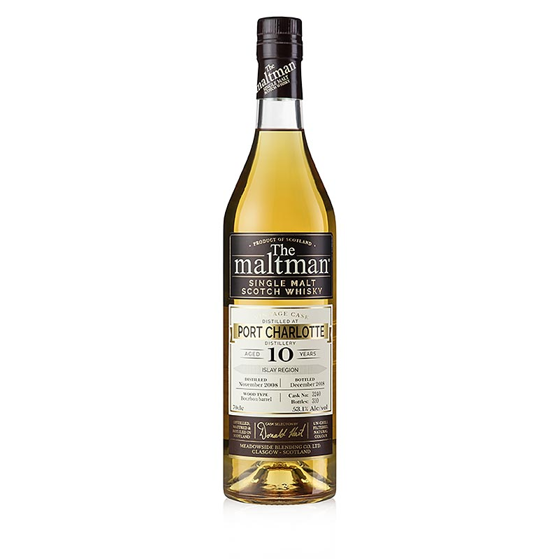 Single Malt Whisky Maltman Port Charlotte, 10 J. 53,1% vol., Islay 700 ml