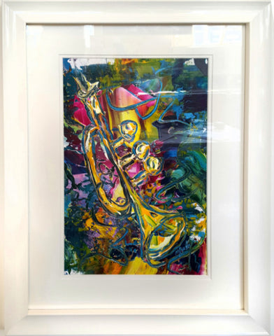 "A. Jazz Series by artist Martin Bush ""Jazz Trumpet Colours"""