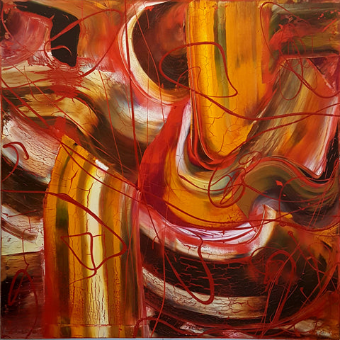 C. Lyrical Wood - 100cm x 100cm SOLD