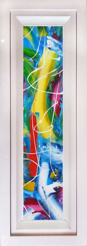 Window Series Beach Party 1 Original Painting by Martin Bush