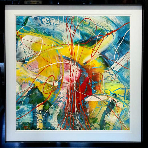 C. Flying Fish Original Painting 127cm x 127cm in this frame