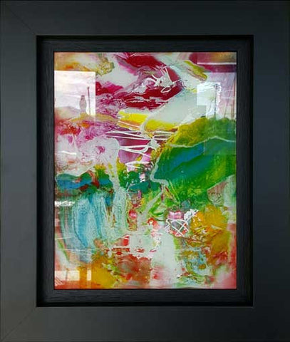 Japanese Garden Painting on Glass by Martin Bush