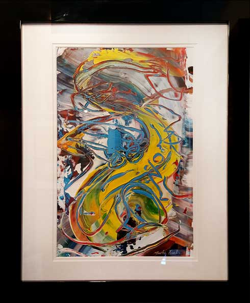 J. Abstract Alto Sax Original Painting