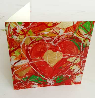 Jewel Heart - Printed Cards Pack of 5