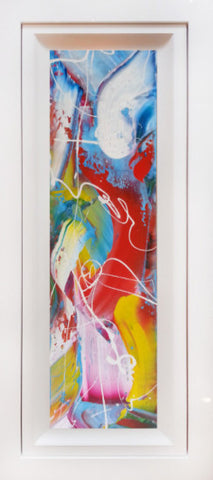 "Original Painting by Martin Bush ""Ocean Cocktail"" Window Series"