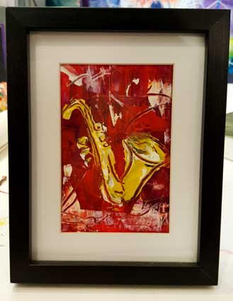 J. Red Jazz Sax Mini I SOLD