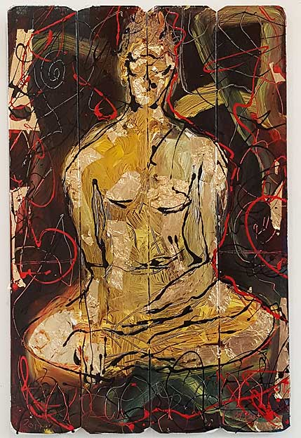 A. Sitting Buddha Original Painting by Martin Bush