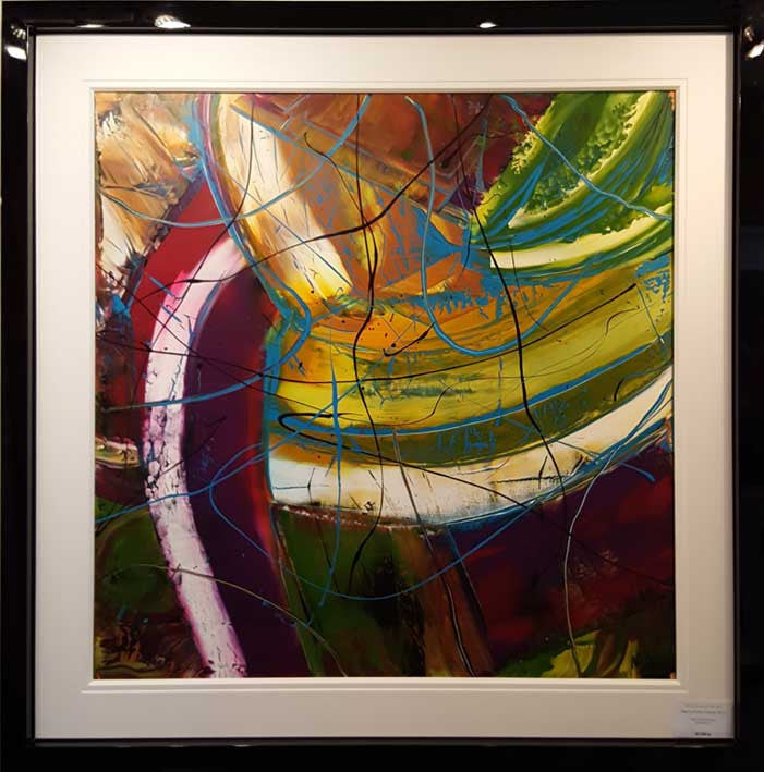 C. Summer Energy Original by Martin Bush - 127cm x 127cm in this frame