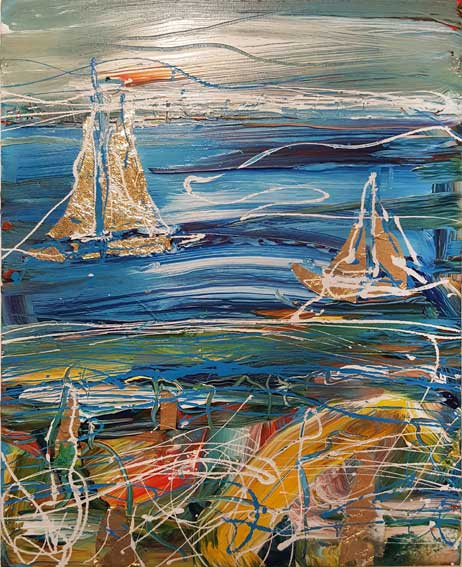 Summer Sailing Original Painting SOLD