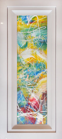 "Original Painting by Martin Bush ""Summer Tonic II"" Window Series"
