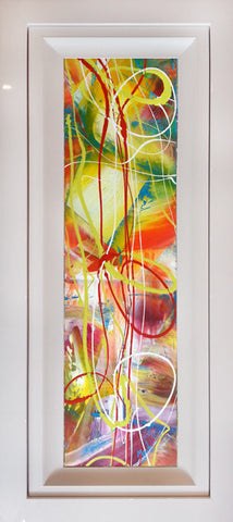 "Original Painting by Martin Bush ""Summer Tonic III"" Window Series"