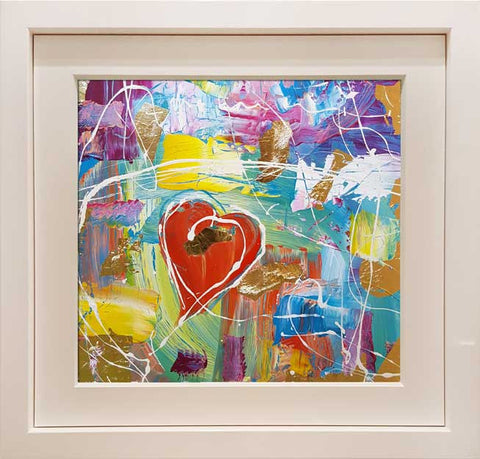 A. Temple Heart on the Beach Original Painting by Martin Bush