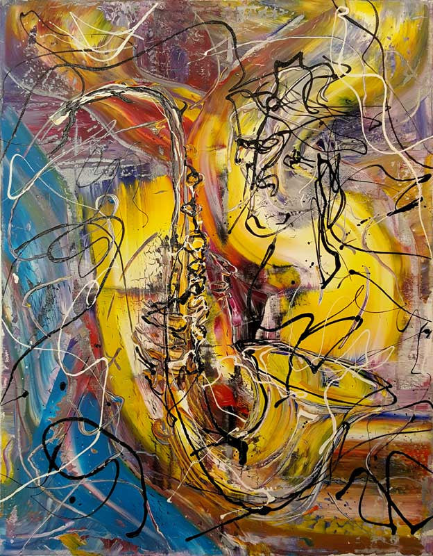 B. The Sound of Jazz Sax - 30% OFF - 71cm x 91cm