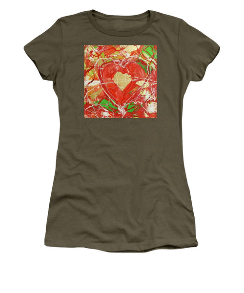 Jewel Heart - Women's T-Shirt (Athletic Fit)